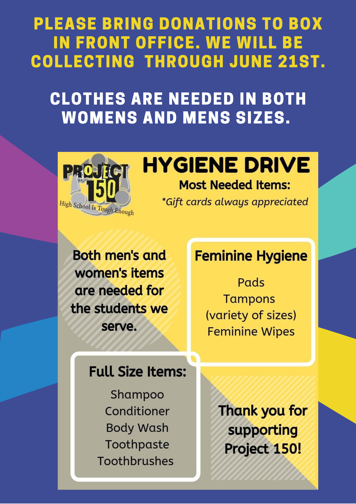 Project 150 Donation Drive